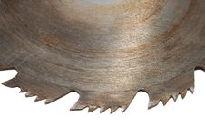 Free Rusty Circular Saw Blade Isolated Royalty Free Stock Photography - 6340887
