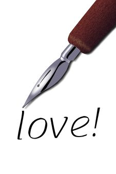 Free Pen To Write The Love Royalty Free Stock Photo - 6341665