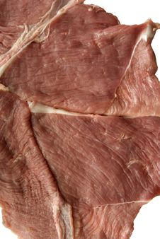 Free Cut Out The Veal Steak Royalty Free Stock Photography - 6342077