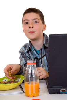 Free Boy Doing Homework Stock Images - 6342334