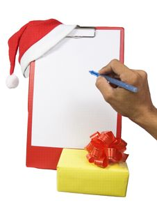 Christmas Clipboard-1 Royalty Free Stock Photography