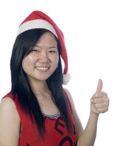 Free Christmas Santa Girl-5 Royalty Free Stock Photos - 6343118