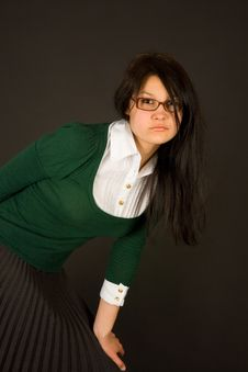 Free Serious Looking Girl Dressed As Teacher Stock Photo - 6344010