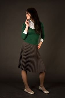 Free Young Girl In Business Outfit Royalty Free Stock Image - 6344036