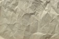 Old  Brown Crushed Paper Background Stock Image