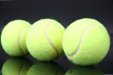 Free Three Tennis Balls Stock Image - 6344131