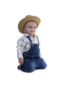 Free Boy With Straw Hat Stock Photos - 6344163