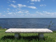 Free Bench By The Ocean Stock Photography - 6344292