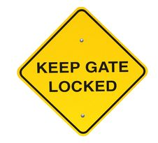 Free Keep Gate Closed Sign Royalty Free Stock Photos - 6345658