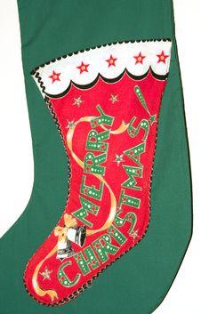 Vintage Christmas Sock Royalty Free Stock Image