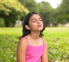 Free Asian Girl Relaxing In A Park Stock Photography - 6347212