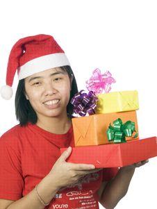 Free Christmas Santa Woman Stock Images - 6347564