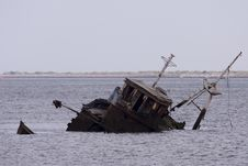 Free Stranded Ship At Ayamonte Stock Photography - 6347582