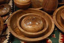 Free Handmade Wood Plates Stock Photos - 6347833