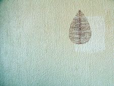 Free Vintage Wall Paper With Leaf Stock Image - 6348421