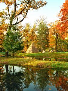 Pyramid In Autumn Colors Stock Photos