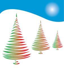 Free Stylized Christmas Tree Stock Images - 6348534