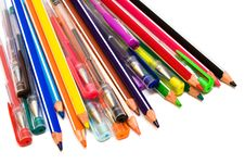 Free Color Pencils And Pens Royalty Free Stock Images - 6348729