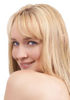 Free Portrait Of Beautiful Blonde Woman Stock Photography - 6348952