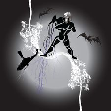 Free Aquarius - The Storm Stock Image - 6349161