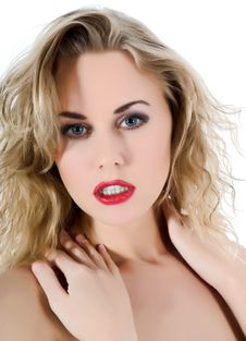 Free Portrait Of The Blonde With Blue Eye Royalty Free Stock Photo - 6349685