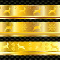 Free CHRISTMAS BORDER VECTOR GOLD Stock Photos - 63423603