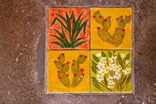Free Creative Hand Pained Ceramic Tiles Royalty Free Stock Image - 63483406