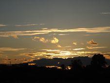 Beautful Yellow Sunset Stock Photography