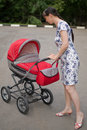 Free Woman With Baby Carriage Stock Photo - 6351590