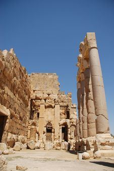 Free Roman Ruins Bacchus Temple Stock Photos - 6350143