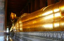 Free Sleeping Gold Buddha At Wat Po Royalty Free Stock Photo - 6350215