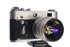 Free Old Film Camera Royalty Free Stock Photography - 6350267