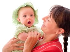 Free Baby With Mom Stock Photo - 6350530