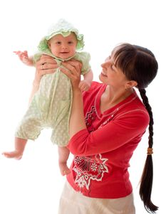 Free Baby With Mom Royalty Free Stock Images - 6350539