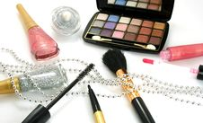 Female Decorative Cosmetics Stock Image