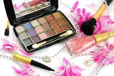Female Decorative Cosmetics Royalty Free Stock Photos