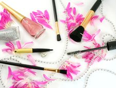 Female Decorative Cosmetics Royalty Free Stock Photography