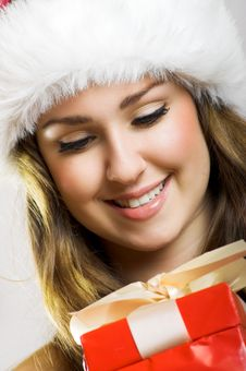 Free Christmas Portrait Of A Woman Royalty Free Stock Photos - 6352358