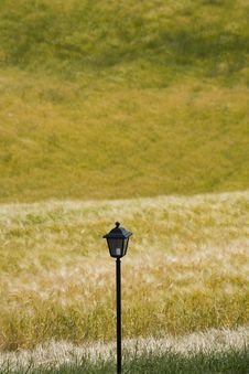 TUSCANY Countryside With Ancient Street Lamp Stock Photography