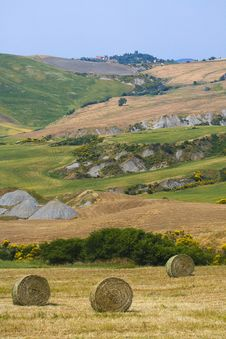 Tuscany Countryside, Hayball Stock Images