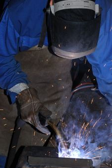 Free Welder At Work. Royalty Free Stock Photo - 6353545