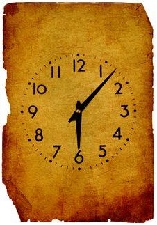 Vintage Clock Grunge Background Royalty Free Stock Photo