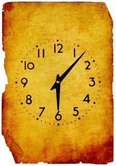 Vintage Clock Grunge Background Royalty Free Stock Images