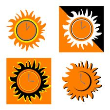 Free Clocks Like Sun Royalty Free Stock Image - 6354106