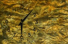 Vintage Clock Grunge Background Stock Photo