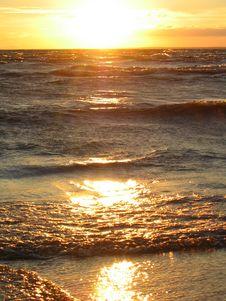 Sunrays At Sea Stock Photo