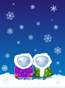Free Two In The Snowfall Royalty Free Stock Photo - 6355625