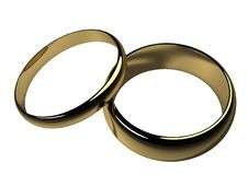 Free His And Hers Wedding Bands - Isolated Royalty Free Stock Photography - 6355937