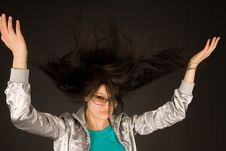 Free Beautiful Girl Shaking Her Hair Stock Photo - 6355950