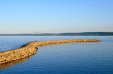 Free Breakwater At Sunset, Lake St-Jean Stock Photos - 6356843